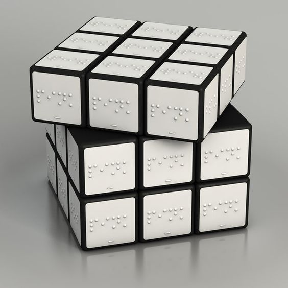 Cubo rubik braille